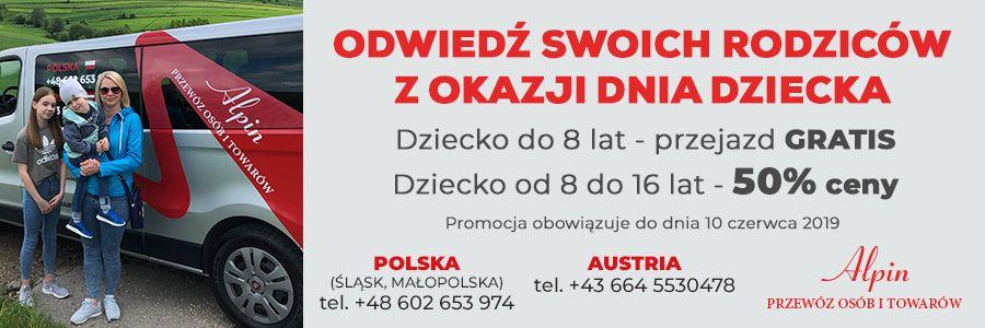 Promocja na przewóz na trasie Polska – Wiedeń