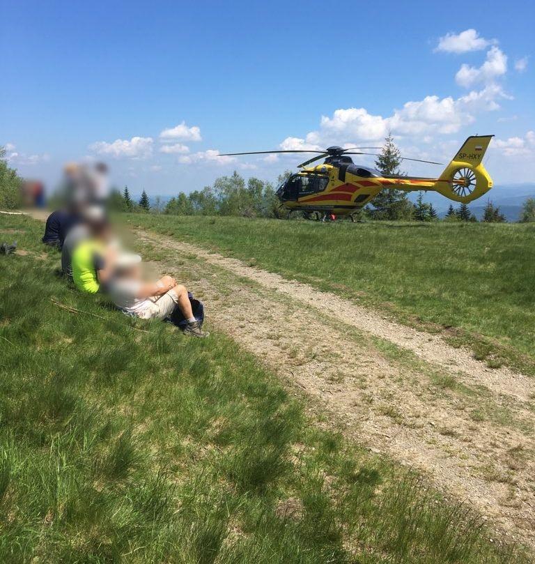 Wypadek w rejonie Leskowca. Nie żyje rowerzysta