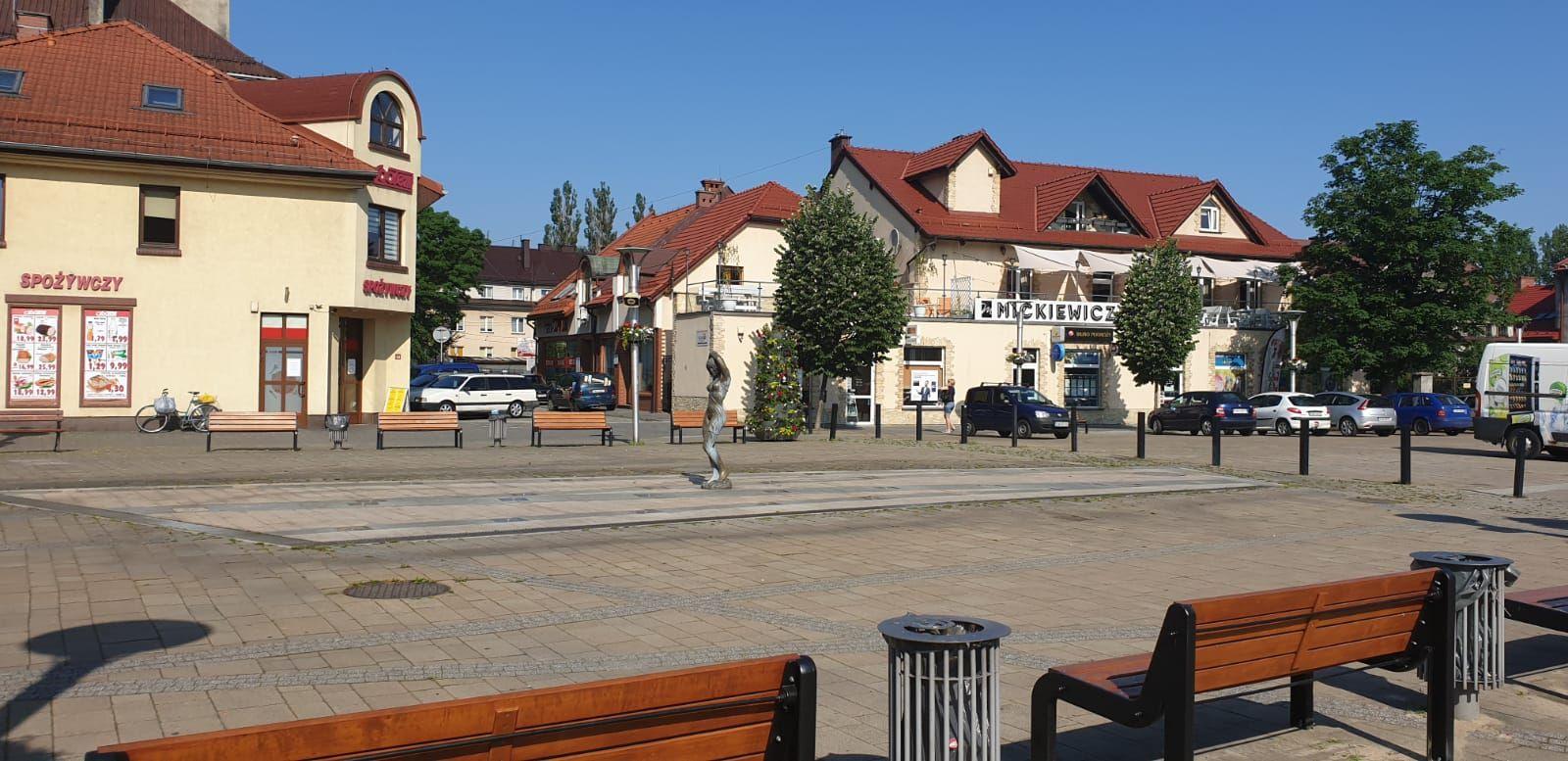 Nie ma ochłody na placu Mickiewicza. Fontanna nie działa