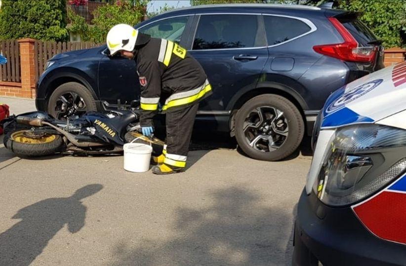 Seria wypadków z udziałem motocyklistów