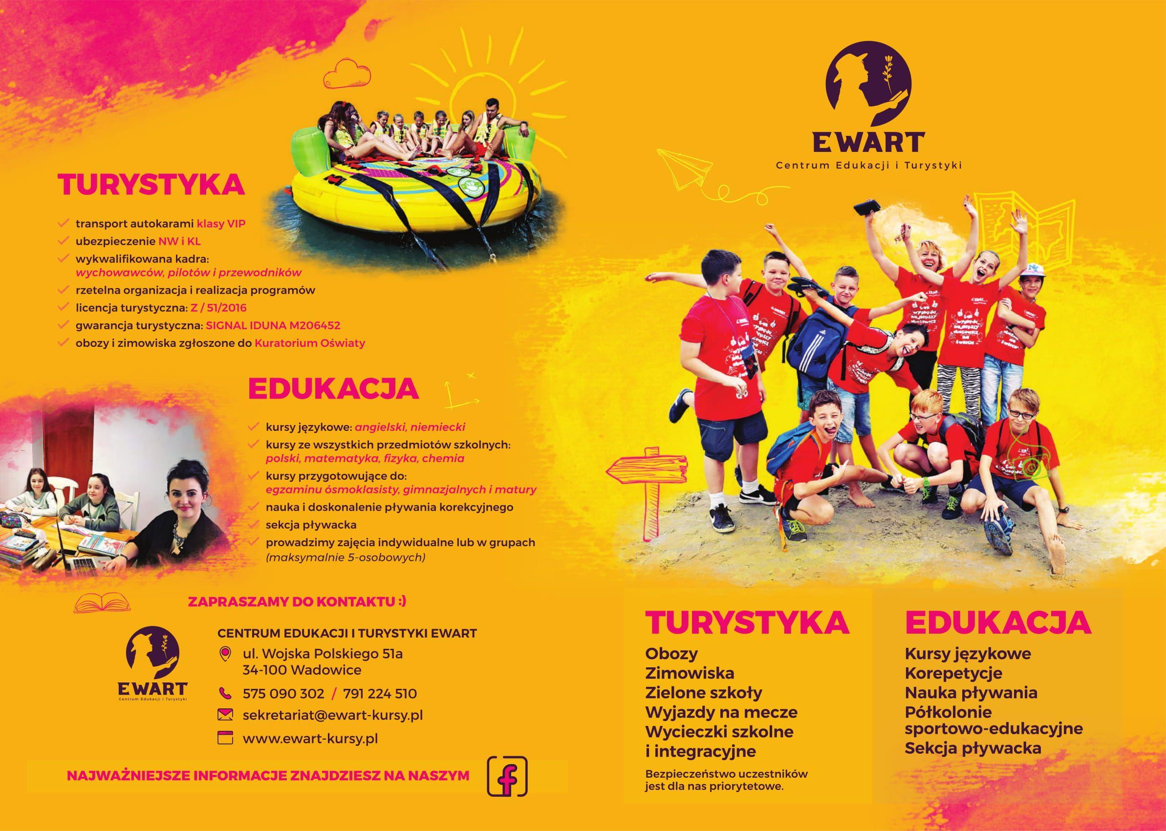 Ostatnie wolne miejsca na KOLONIE I OBOZY dziecięco-młodzieżowe z EWARTEM w wakacje!!!