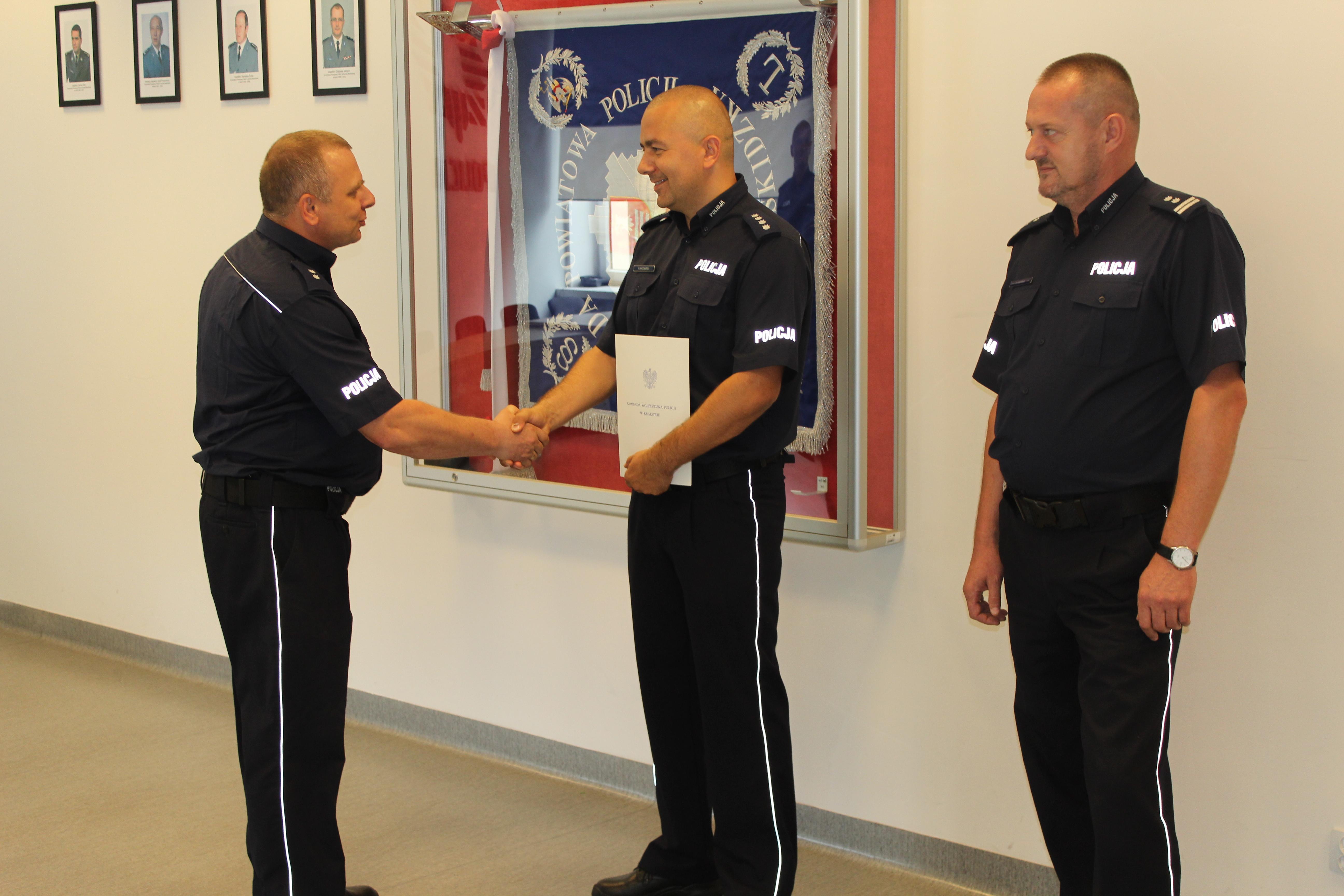 Nowy zastępca komendanta policji, poprzedni stracił stanowisko, bo jechał po pijanemu