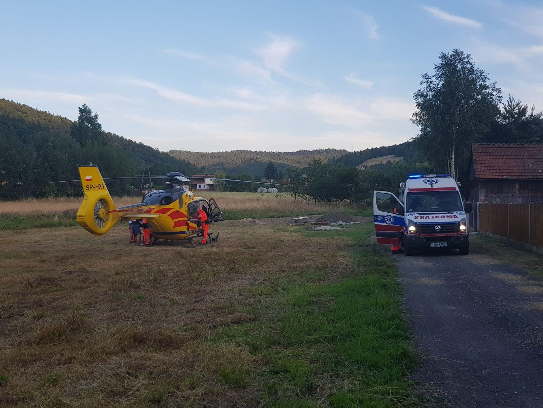 Śmigłowiec LPR wezwano do pacjenta w gminie Andrychów