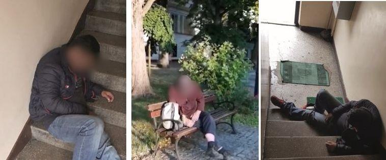 Śpią na klatce, na ławce w parku... To denerwuje mieszkańców.