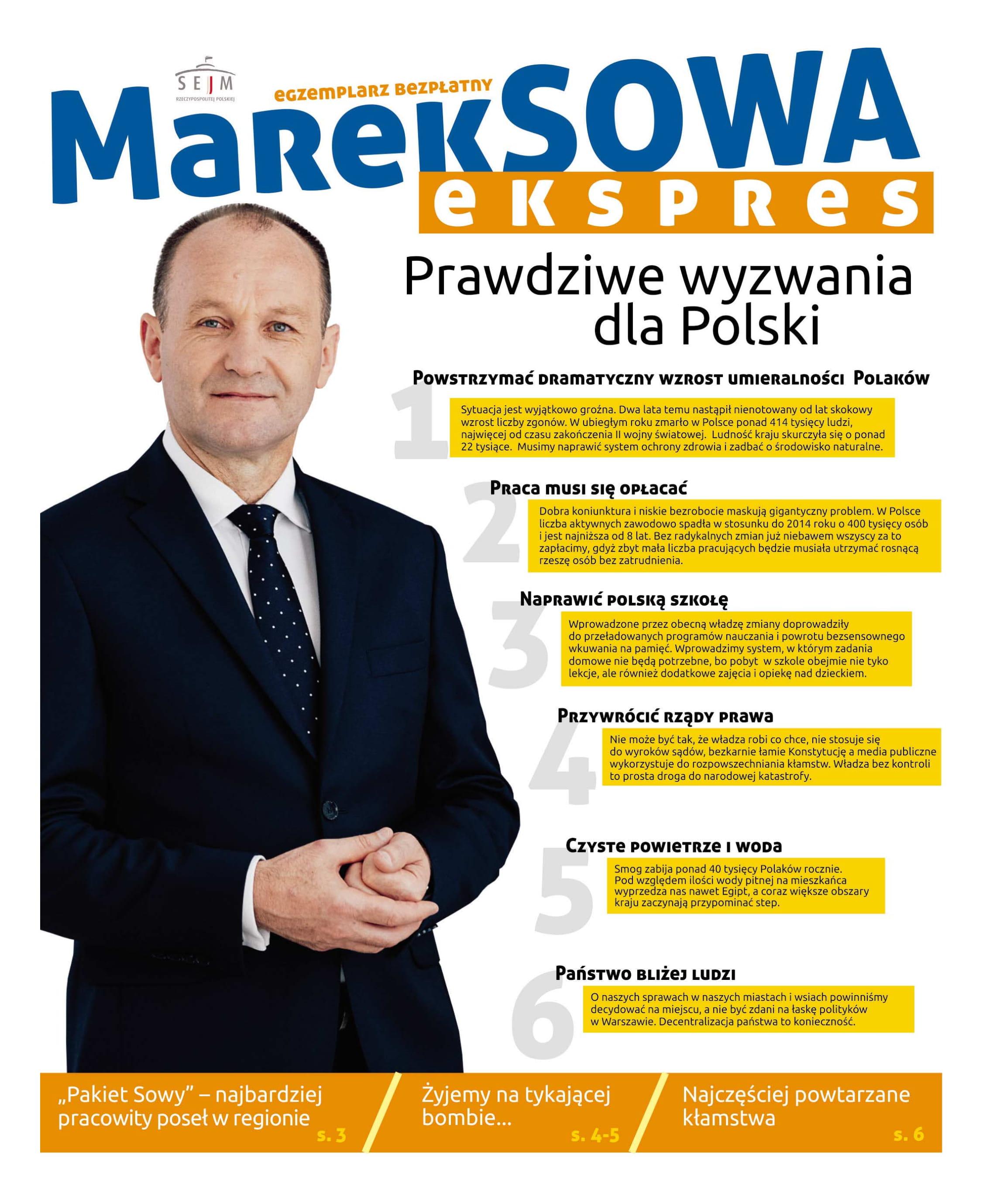 Poseł Marek Sowa - podsumowanie kadencji