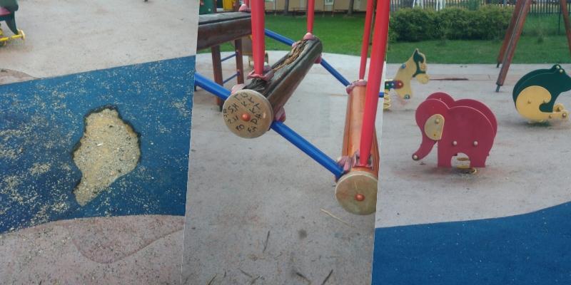 Plac zabaw jak poligon dla wojska