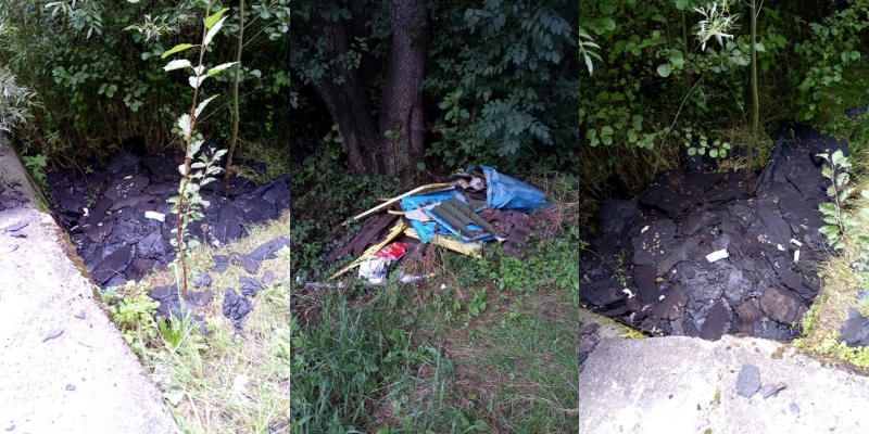 Sterty śmieci nad rzeką