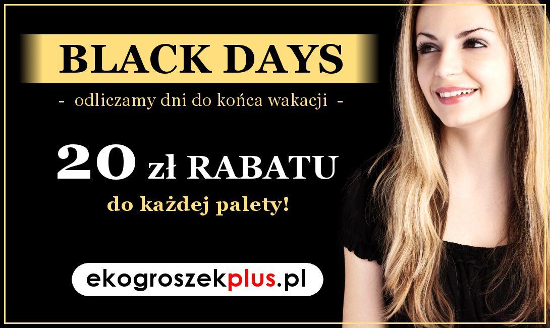 Ależ okazja!... BLACK DAYS w e-sklepie ekogroszekplus.pl!