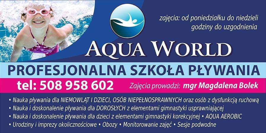 Szkoła Pływania AQUA WORLD ogłasza nabór
