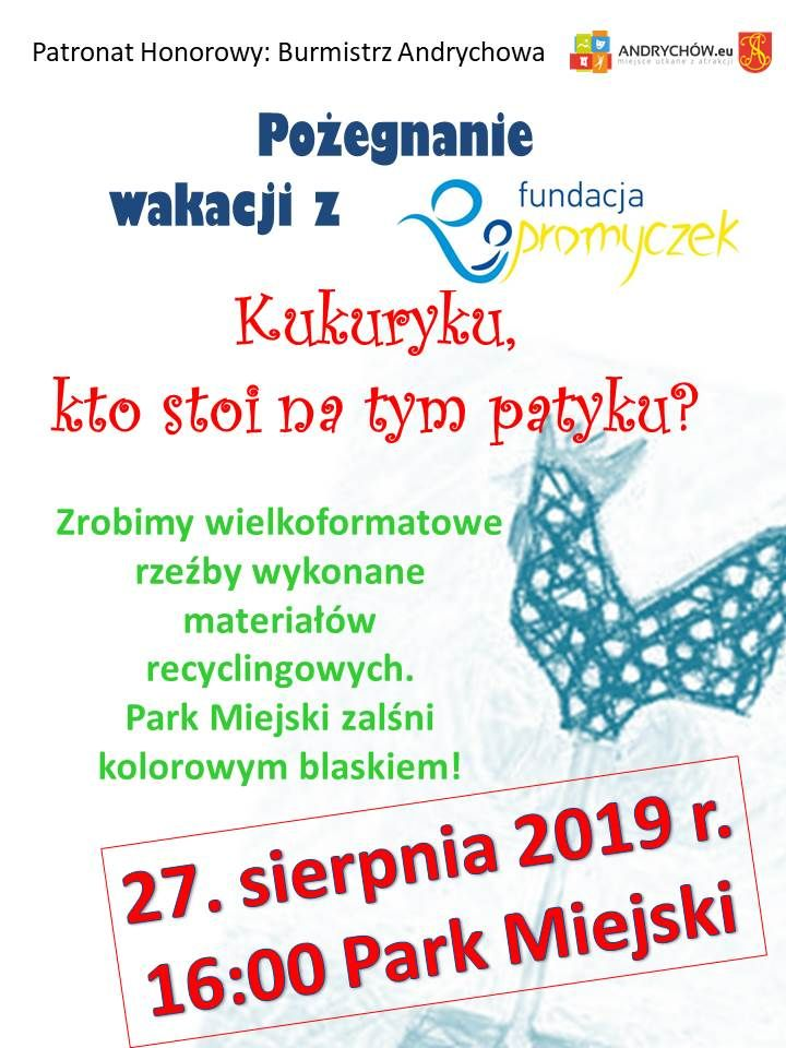 Akcja fundacji Promyczek na pożegnanie wakacji w Parku Miejskim