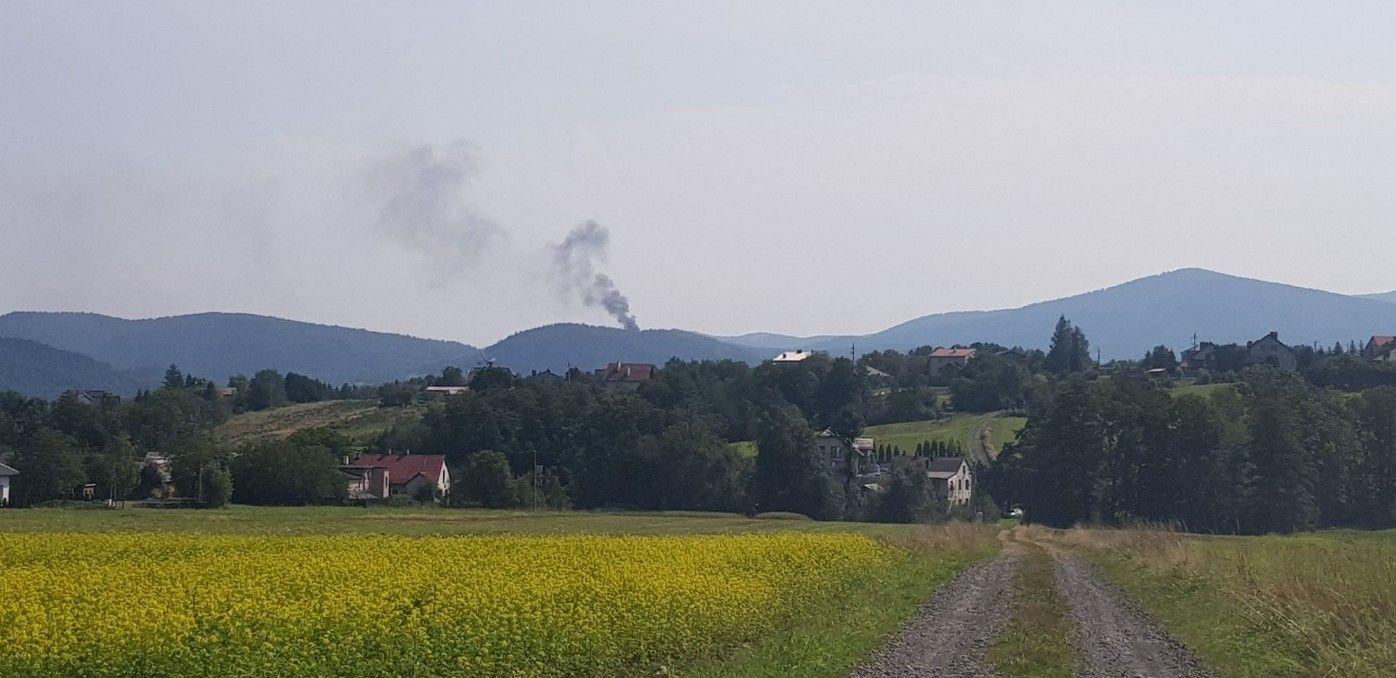 Pożar kaplicy w Zagórniku [FOTO]