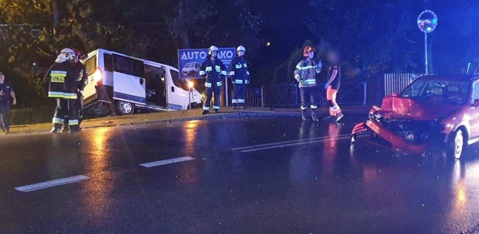 Jedna osoba poszkodowana w porannym wypadku