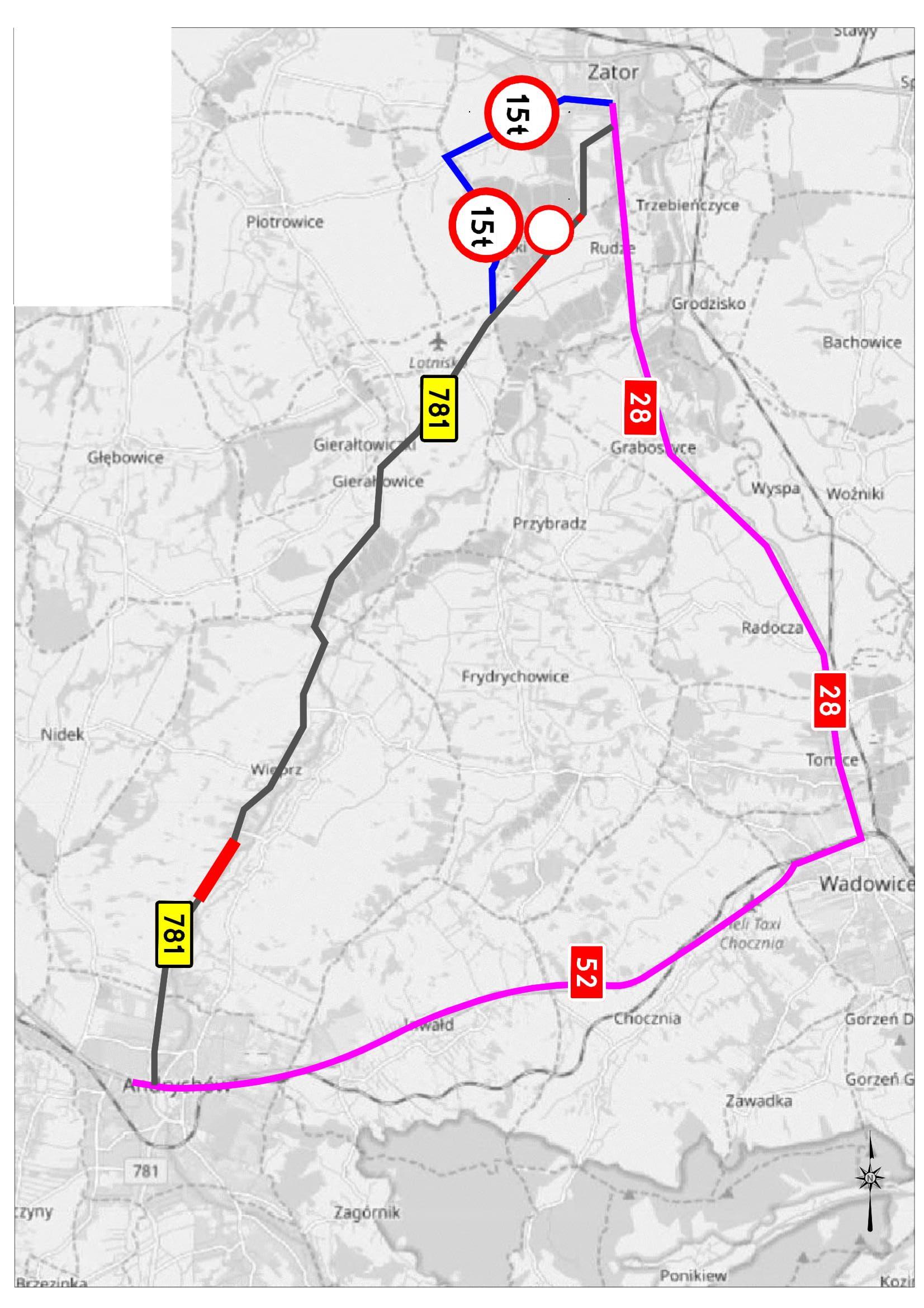 Wkrótce ruszy remont drogi wojewódzkiej Andrychów - Zator. Ważne informacje dla kierowców