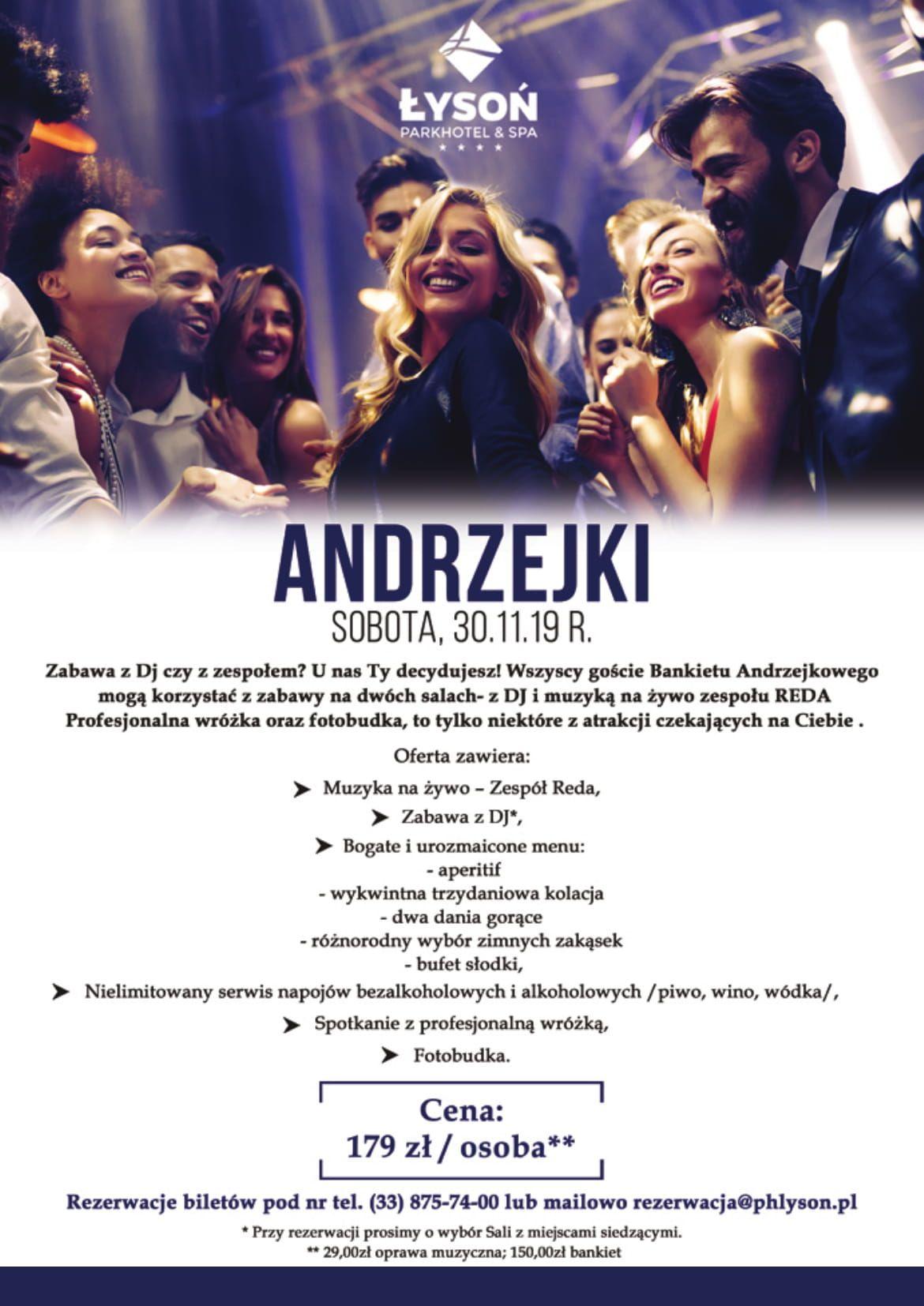 Andrzejki w Park Hotel Łysoń. Zobacz szczegóły