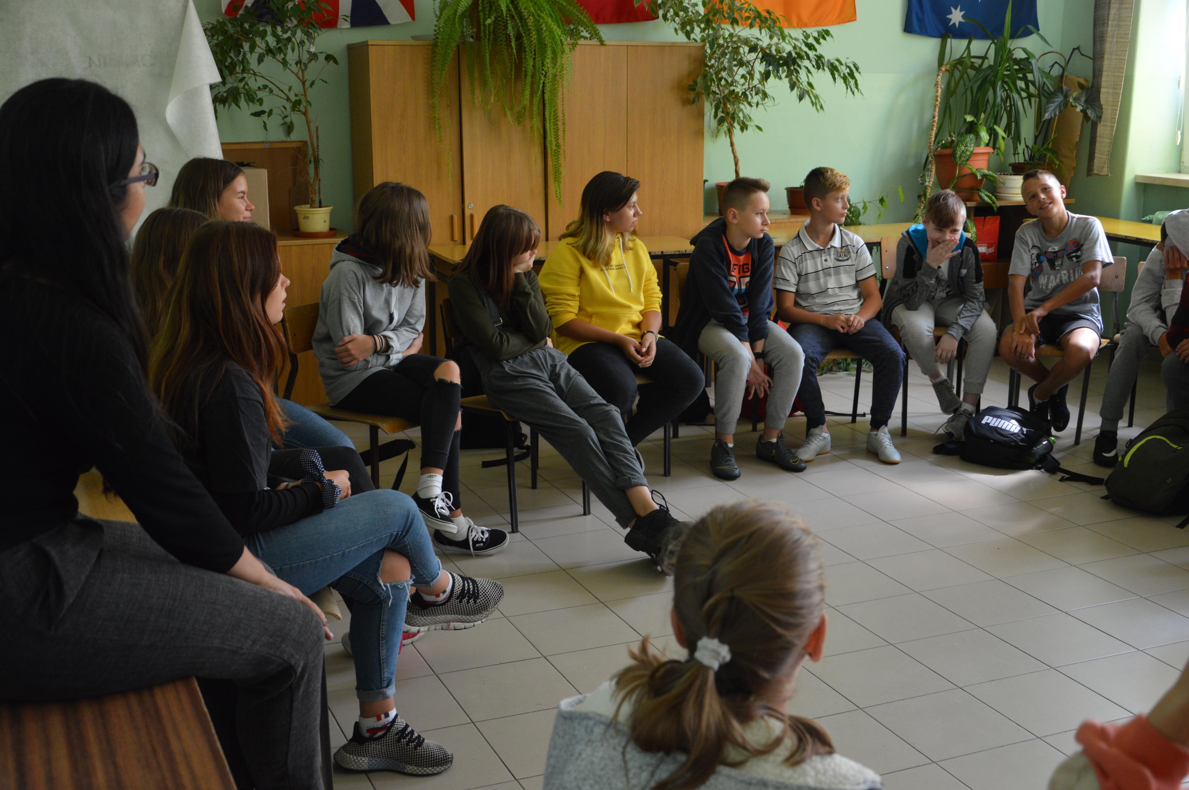 Wolontariusze z EuroWeek w andrychowskiej szkole [FOTO]