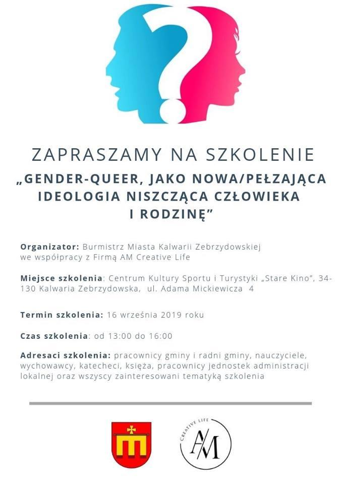 Burmistrz organizuje konferencję o gender. Już pojawiają się słowa oburzenia
