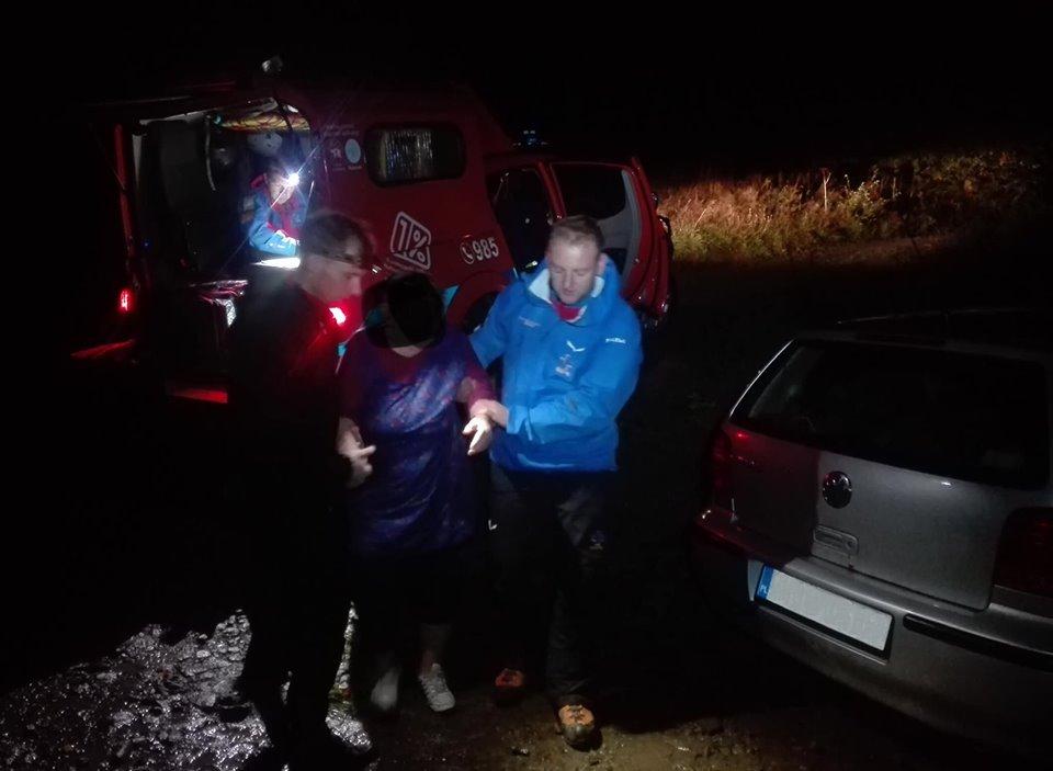 Nocna akcja poszukiwawcza. Szukano kobiety, która poszła na grzyby w okolice Leskowca