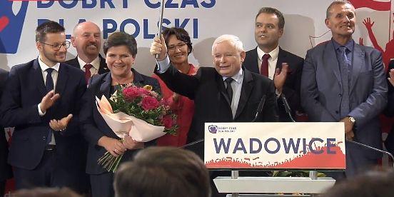 Konwencja PiS z Jarosławem Kaczyńskim w Wadowicach [RELACJA] [FOTO]
