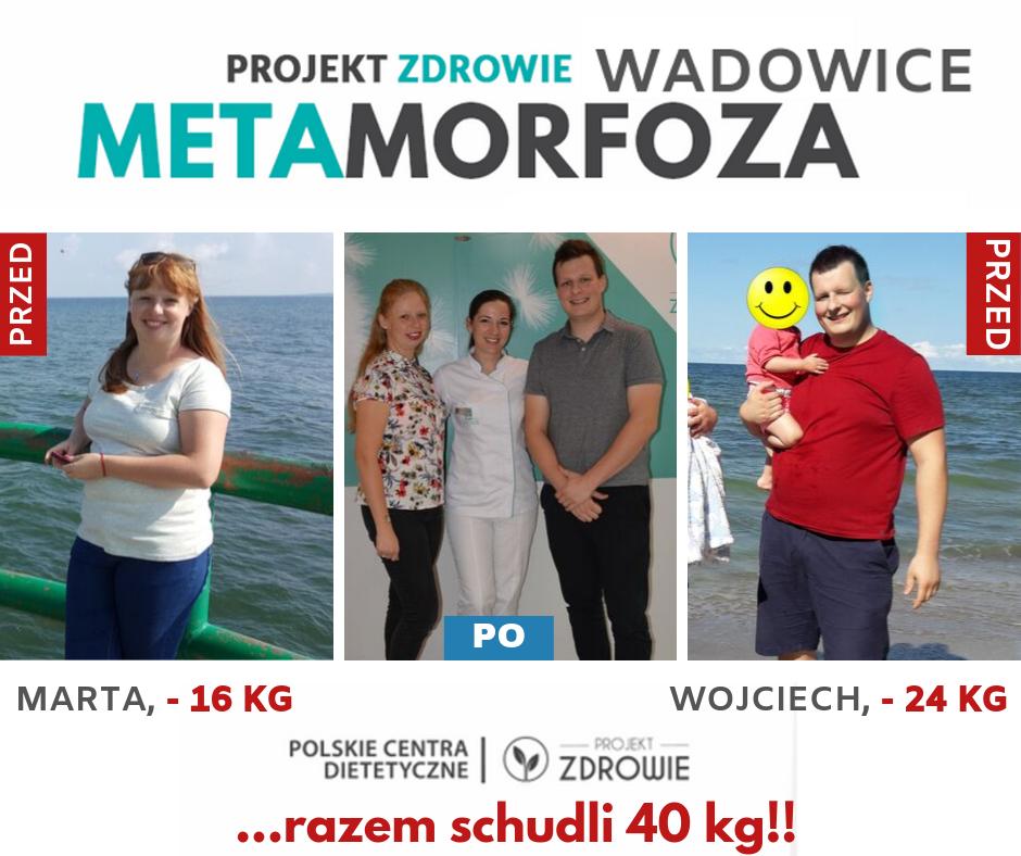 Pan Wojciech i Pani Marta szczuplejsi o 40 kg z Projekt Zdrowie Wadowice!