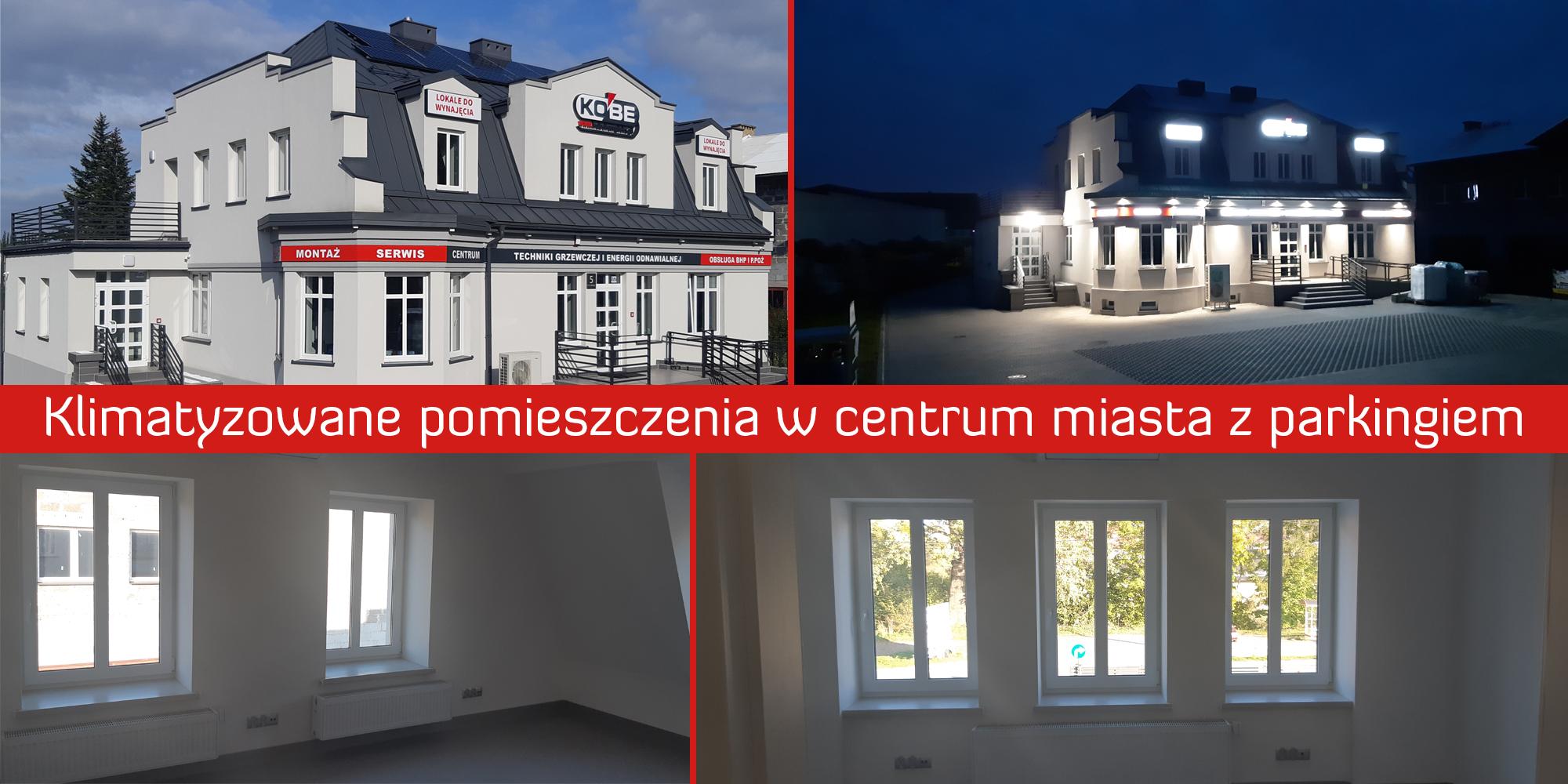 Bardzo atrakcyjne i przestronne pomieszczenia do wynajęcia w centrum Andrychowa