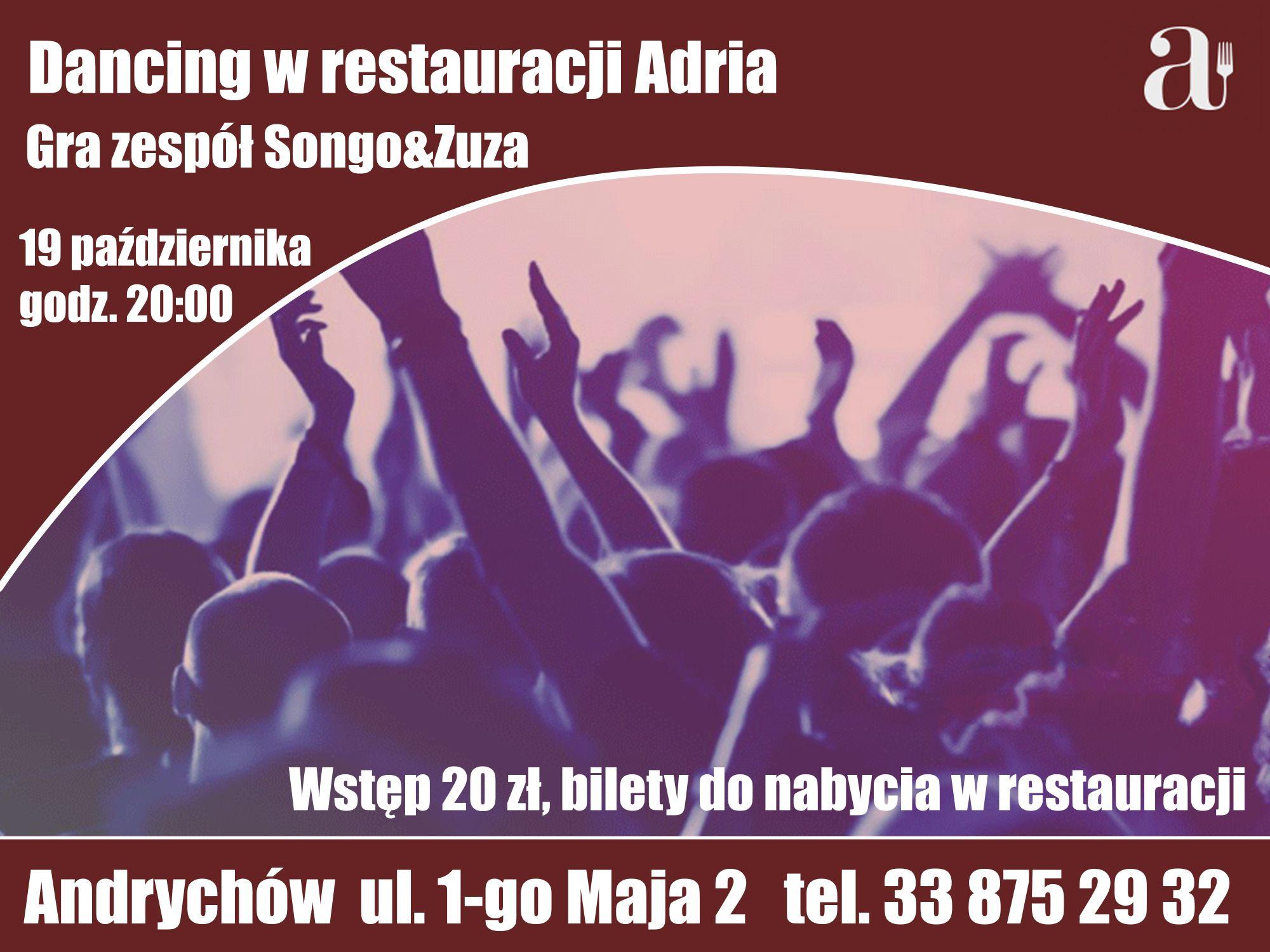 Restauracja Adria zaprasza na Dancing i Andrzejki