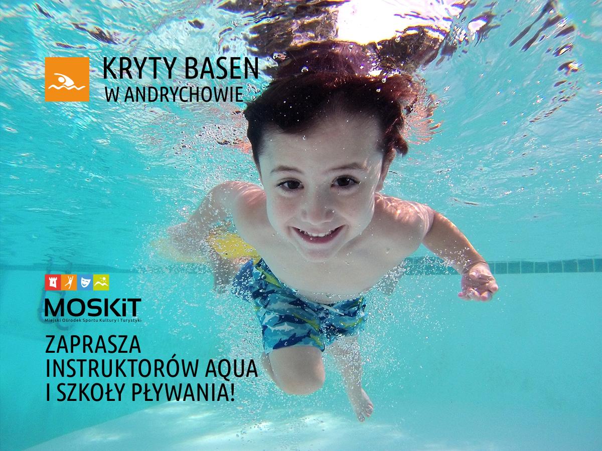 Będą zajęcia na nowym basenie w Andrychowie: nauka pływania, aqua aerobik i inne
