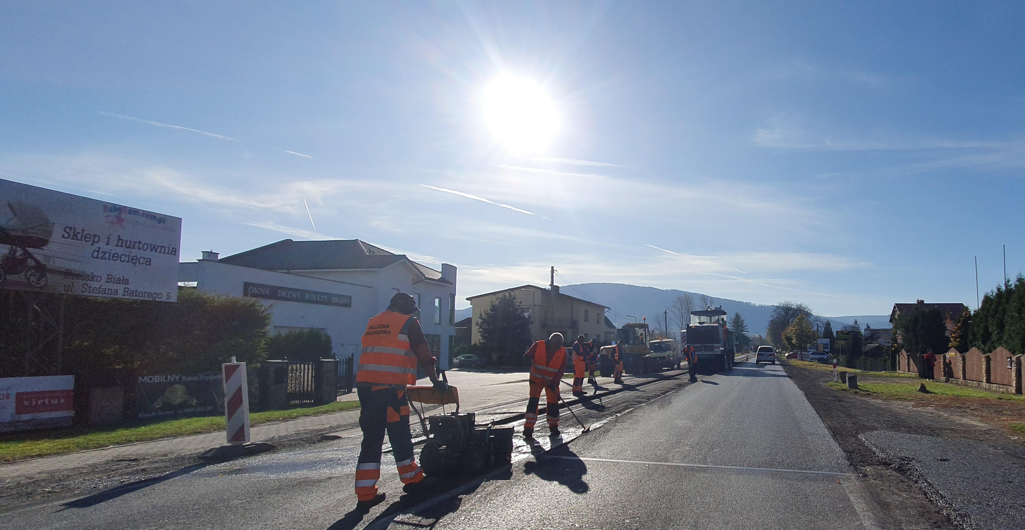 Utrudnienia drogowe na krajówce na trasie Kęty - Bielsko