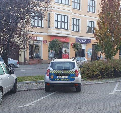 Z cyklu mistrzowie parkowania w Andrychowie