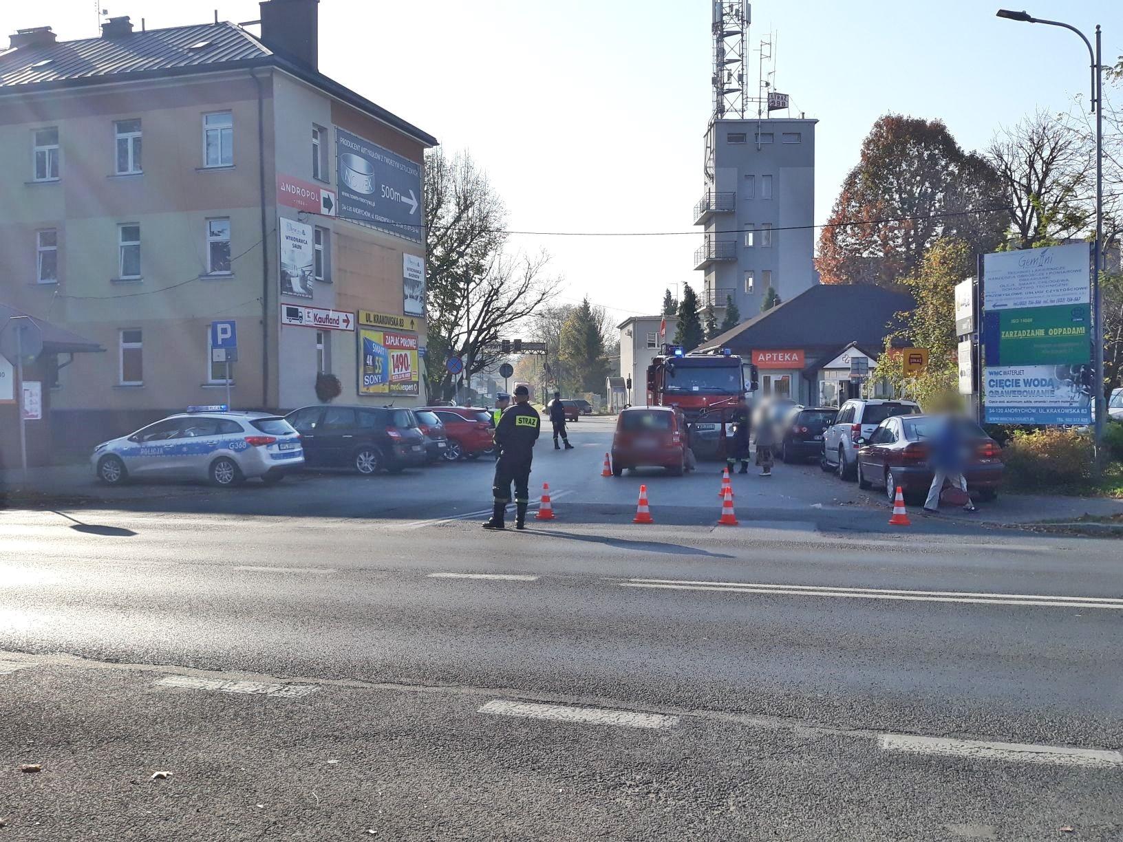 Wypadek w Andrychowie, potrącenie pieszej