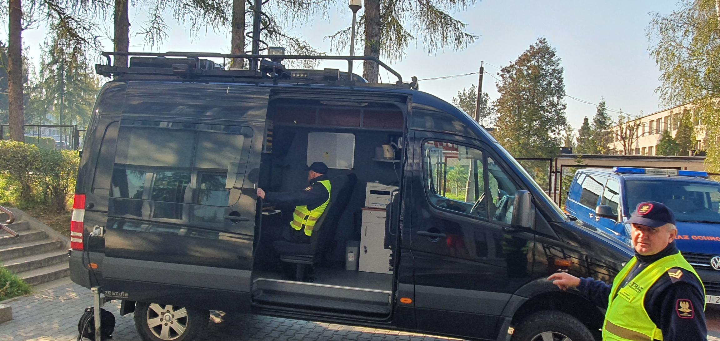 Strażnicy ochrony kolei z wizytą w Andrychowie