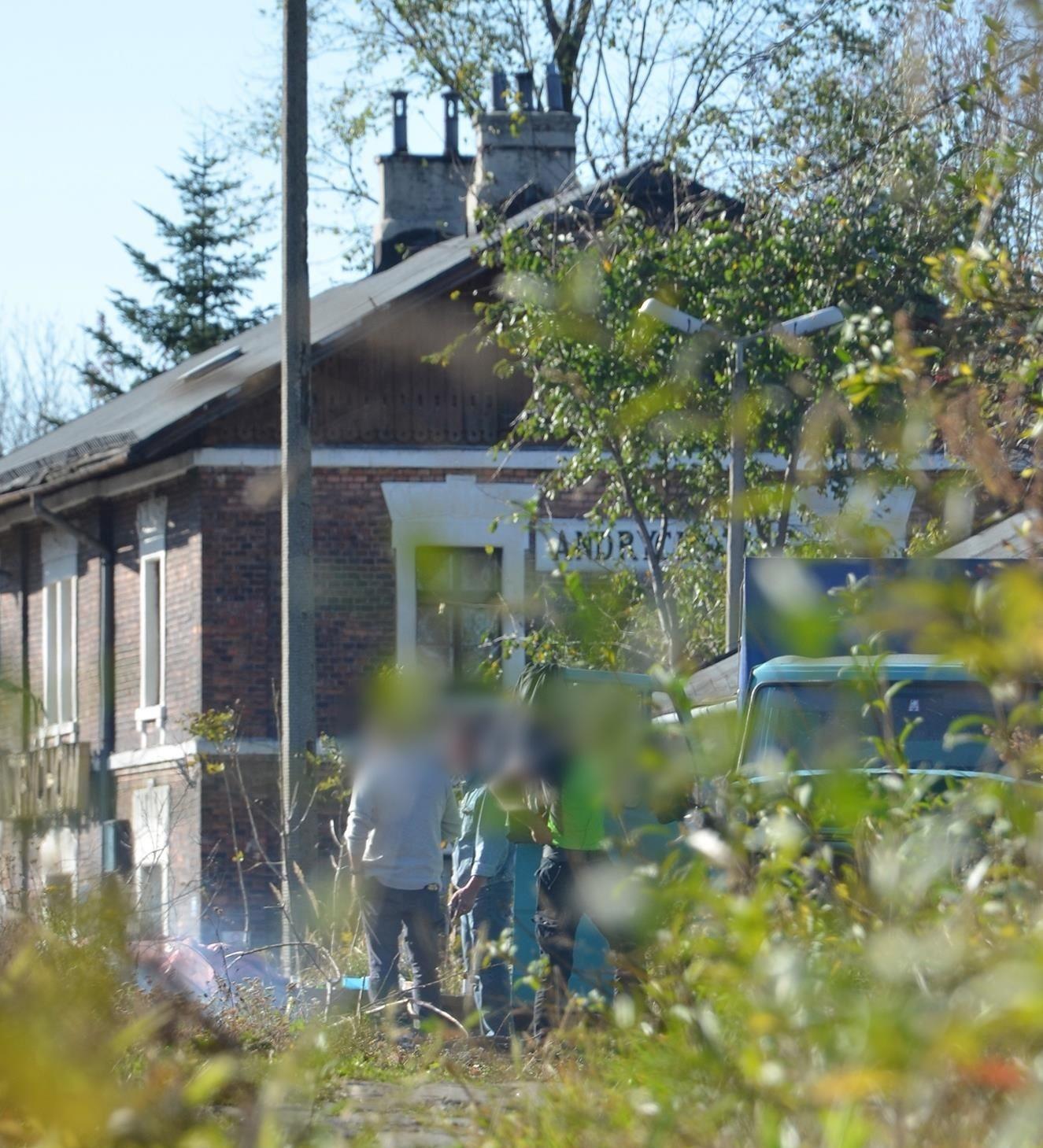 Dzika melina w okolicach dworca PKP w Andrychowie