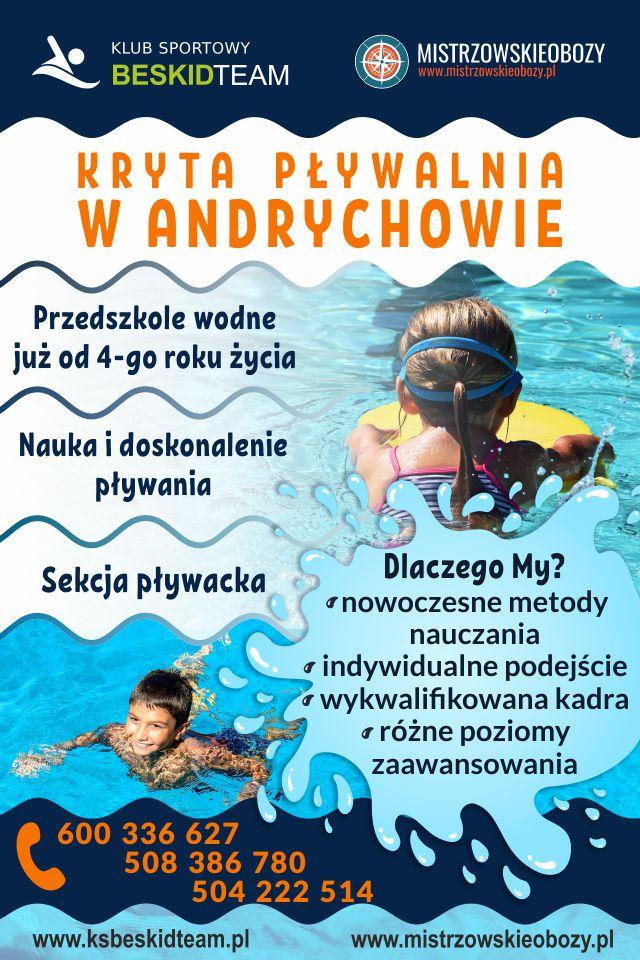 Oferta klubu Beskid Team: zapisy zajęcia na basenie w Andrychowie i na ferie zimowe