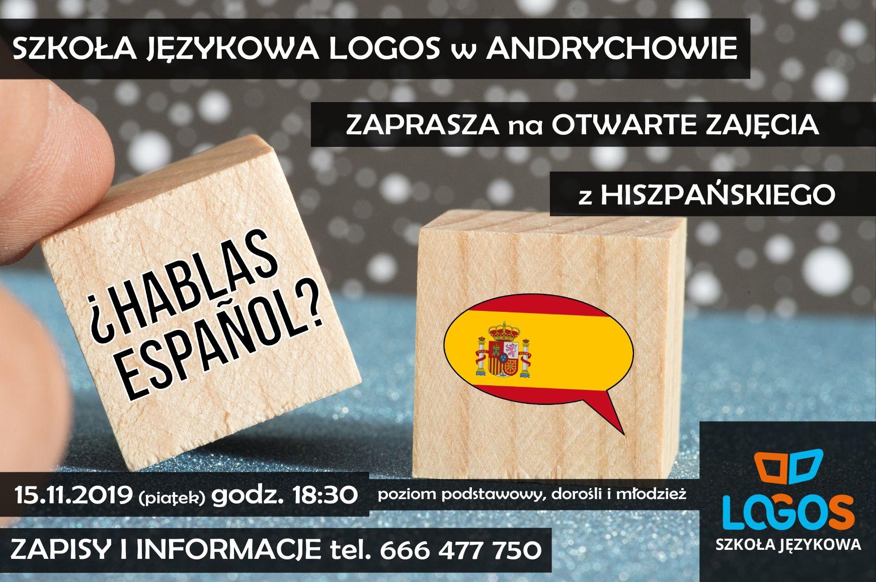 Otwarte zajęcia z języka hiszpańskiego w Szkole Językowej LOGOS