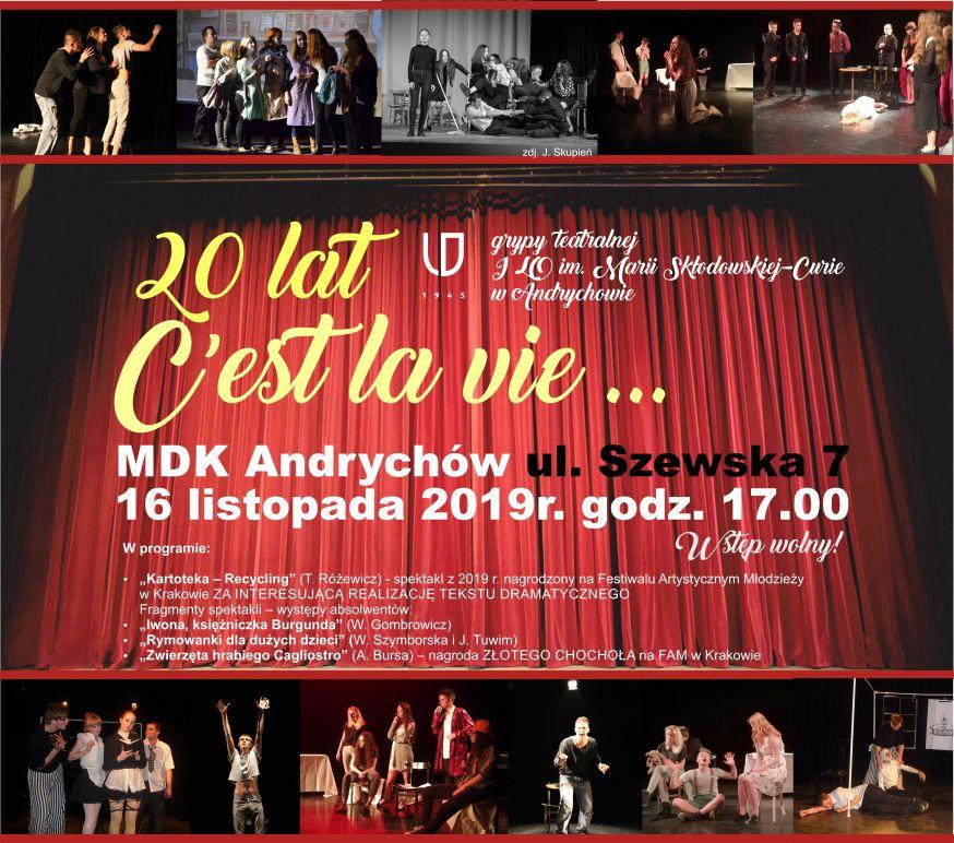 XX-lecie grupy teatralnej C'est la vie