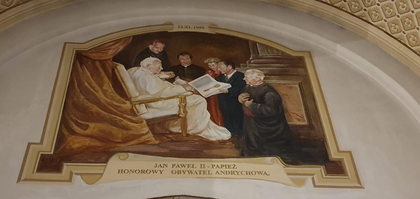 Po wydarzeniu sprzed 20 lat w Andrychowie pozostał słynny fresk [FOTO]