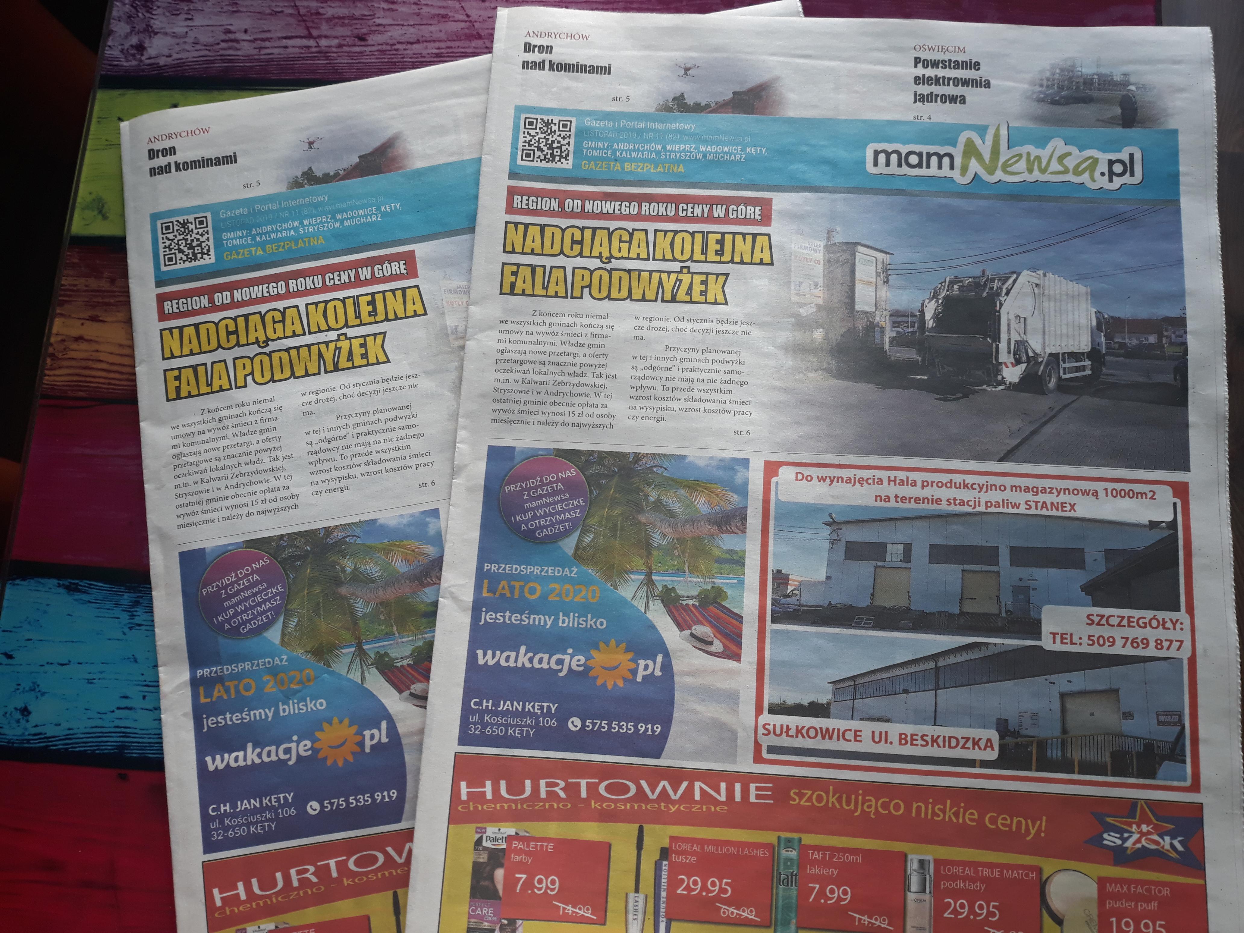 Gratis w listopadowym wydaniu gazety mamNewsa