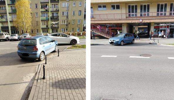 Mistrzowie parkowania - przed sklepem