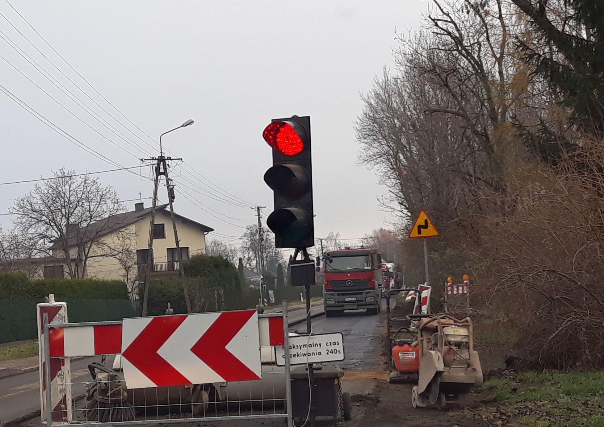 Remont trasy Andrychów - Zator z poślizgiem