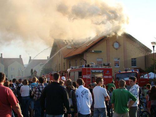 Duży pożar w Andrychowie [FOTO]