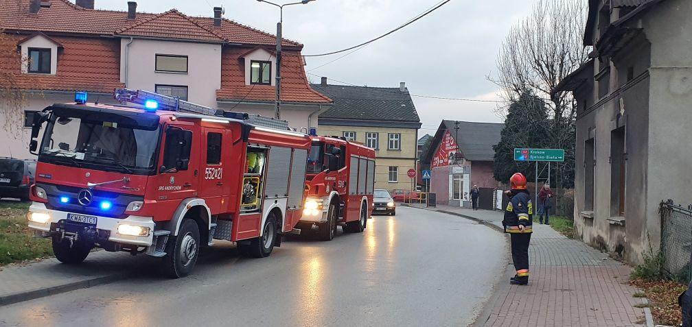Akcje strażaków w Andrychowie i Witanowicach