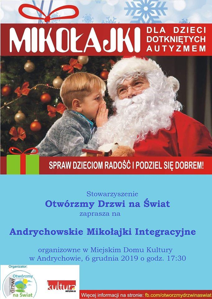 Zaproszenie na Mikołaja w Miejskim Domu Kultury w Andrychowie