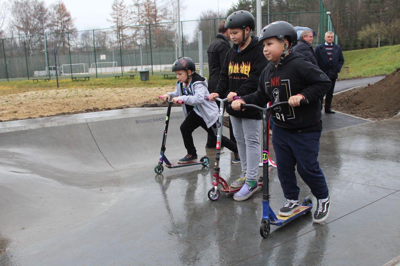Nowy skatepark oficjalnie otwarty