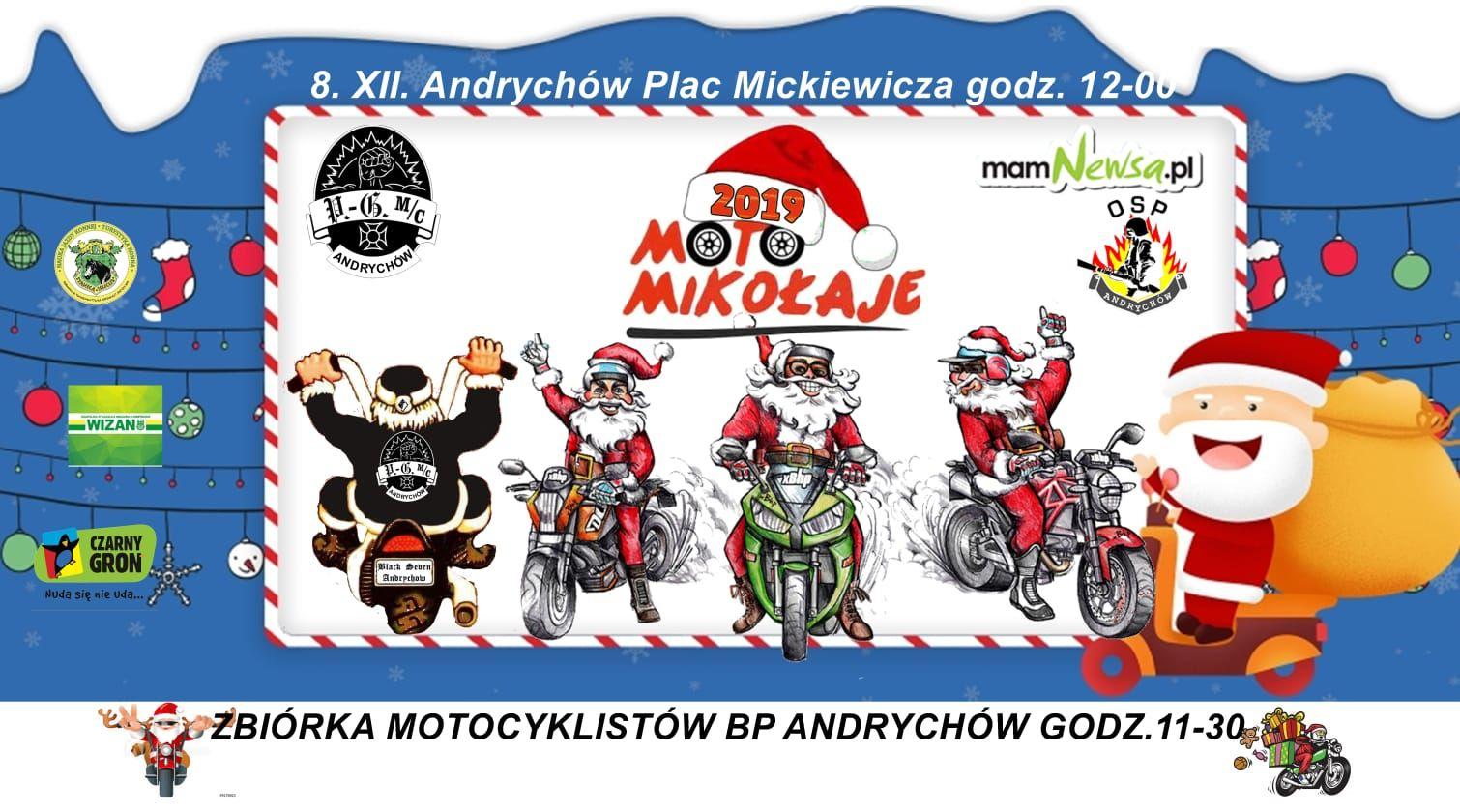 Już w niedzielę Motomikołaje w Andrychowie, Wadowicach i Kalwarii Zebrzydowskiej