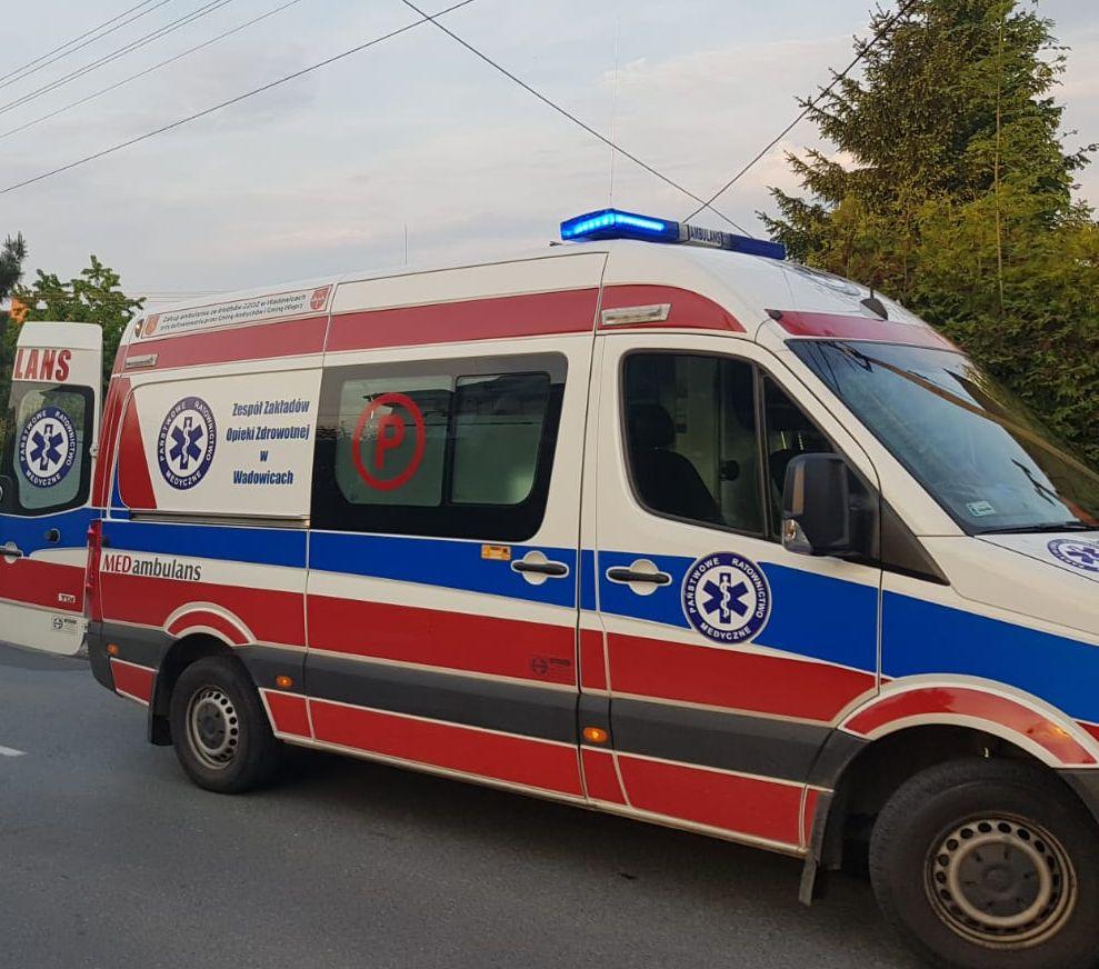 Rowerzysta ranny w wypadku