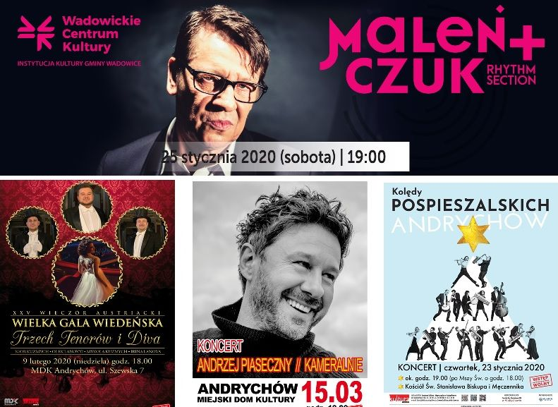 Koncertowy początek roku. Pospieszalscy, Golec uOrkiestra, Irena Santor, Maciej Maleńczuk, Piasek