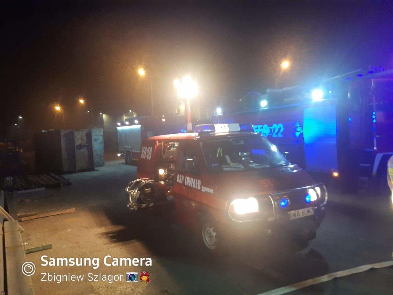 Interwencja strażaków na terenie zakładu Zasław w Andrychowie