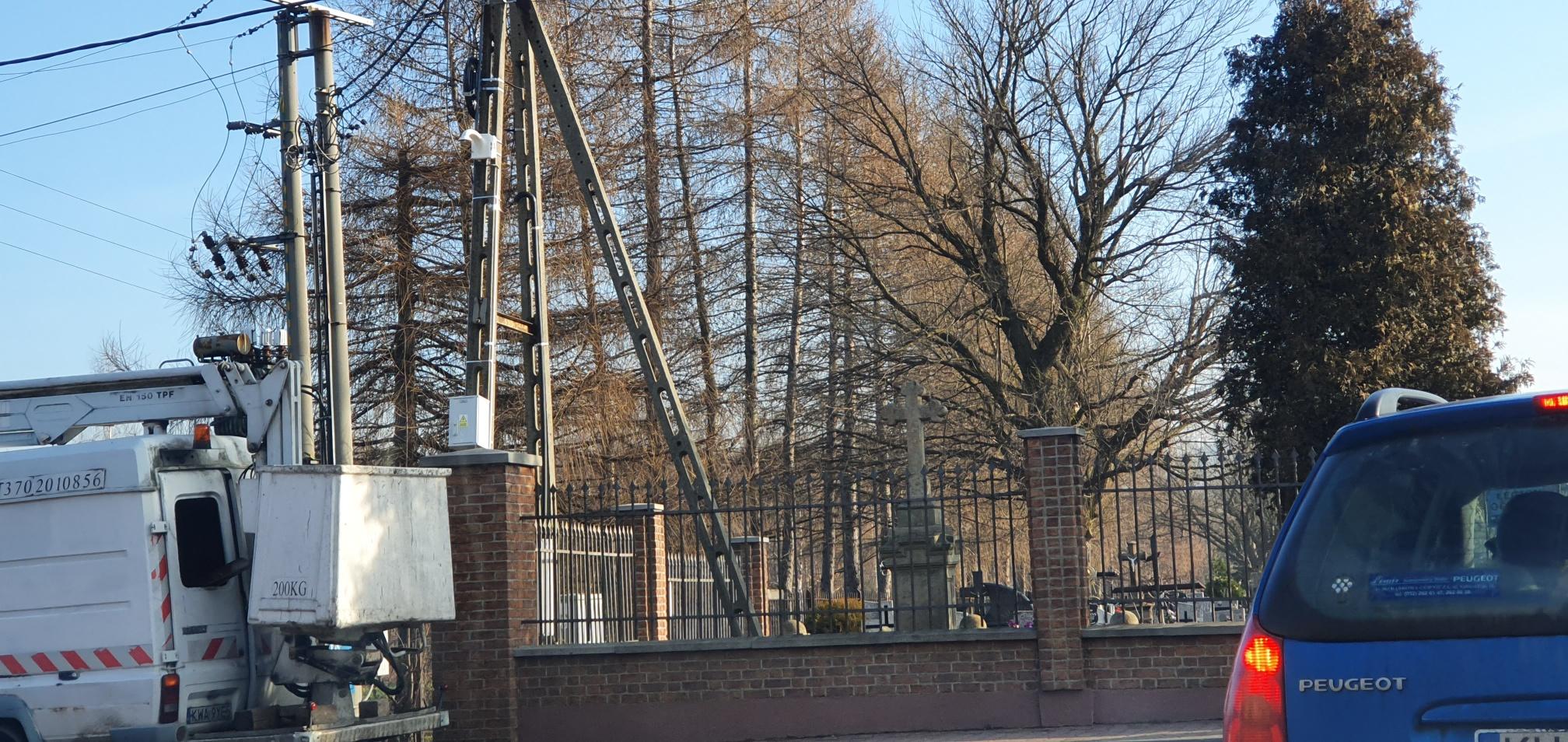Na ulicach Andrychowa montowane są nowe kamery