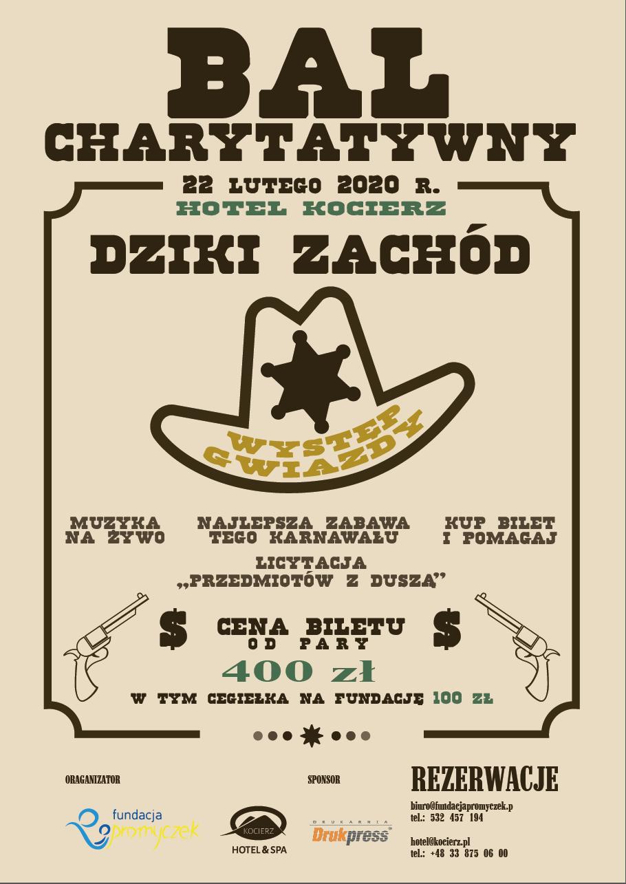 Fundacja 'Promyczek' oraz Kocierz Hotel & SPA mają zaszczyt zaprosić Państwa na VII Bal Charytatywny