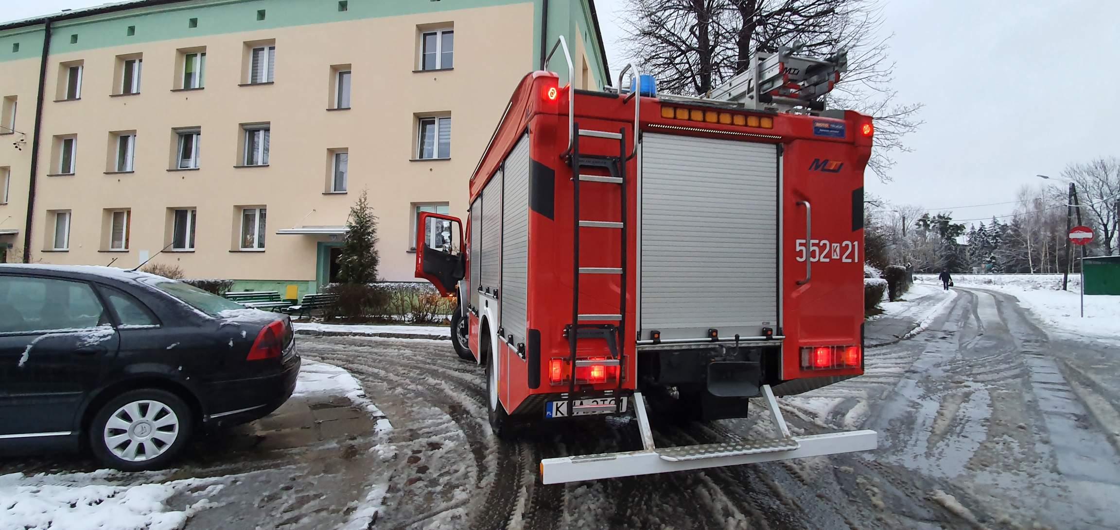 Dwie interwencje andrychowskich strażaków