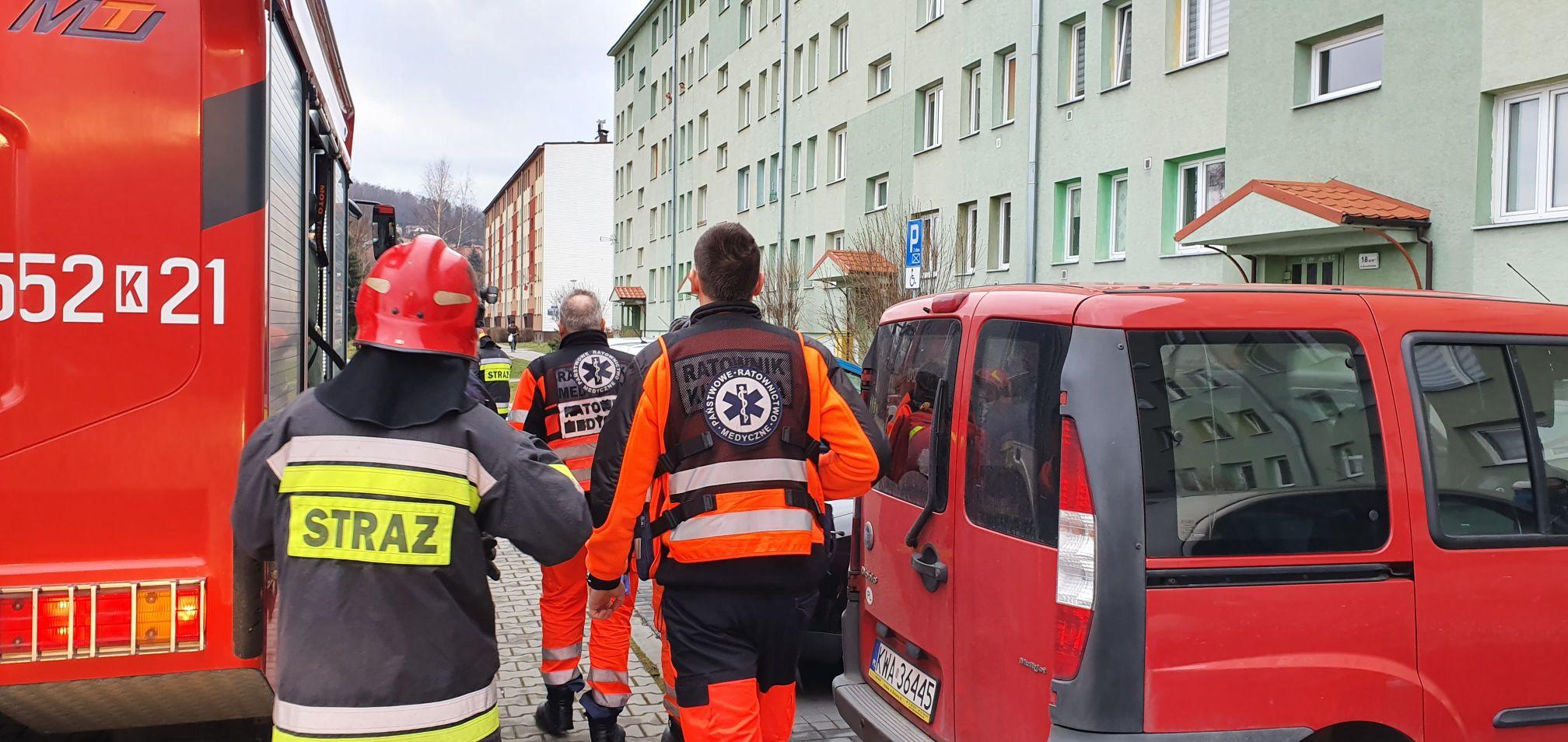 Akcja ratownicza na osiedlu w Andrychowie
